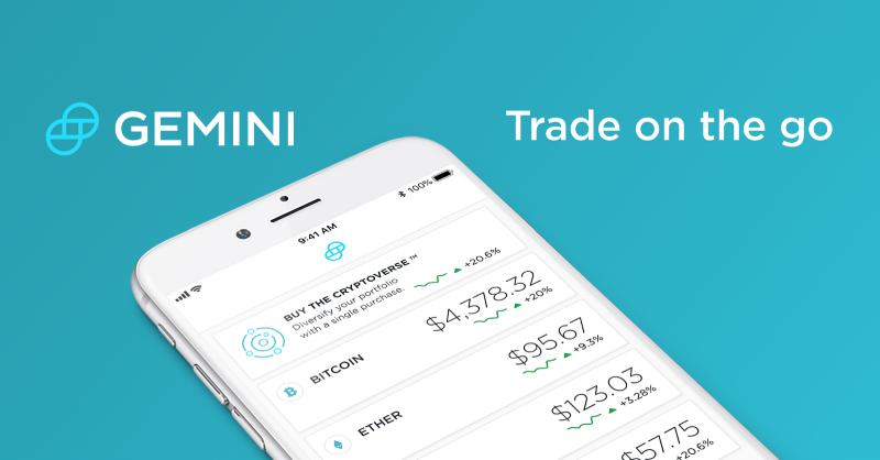 Gemini-Exchange-Mobil-uygulaması